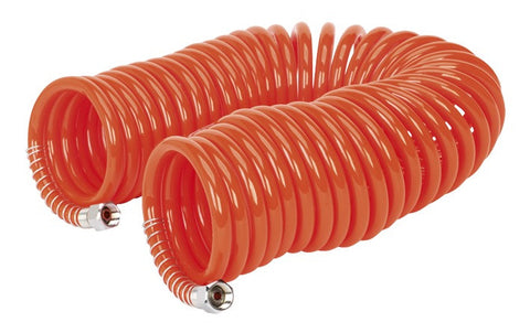 "Sealey PU Coiled Air Hose 10mtr x Ø6mm with 1/4""BSP Unions AH10C/6"