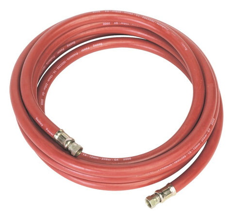 "Sealey Air Hose 5mtr x Ø10mm with 1/4""BSP Unions AHC538"