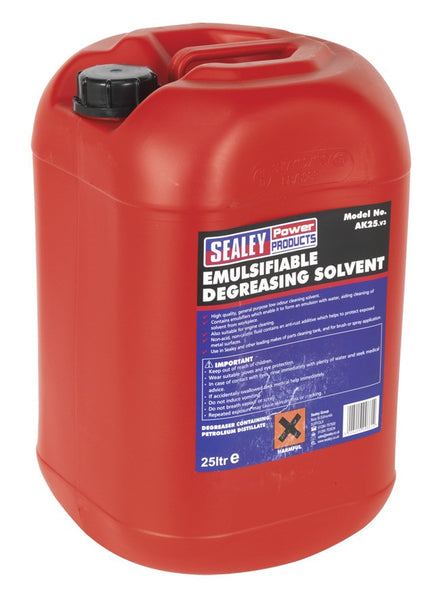 Sealey Degreasing Solvent Emulsifiable 1 x 25ltr AK25
