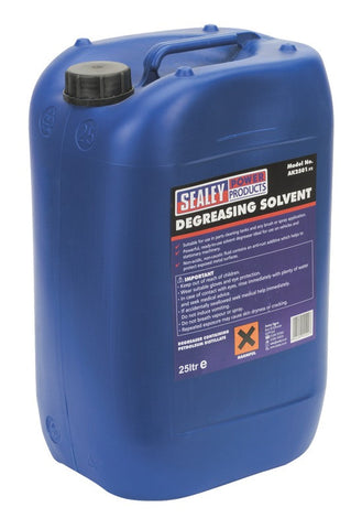 Sealey Degreasing Solvent 1 x 25ltr Container AK2501