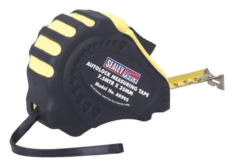 Sealey Autolock Measuring Tape 7.5mtr(25ft) x 25mm Metric/Imperial AK995