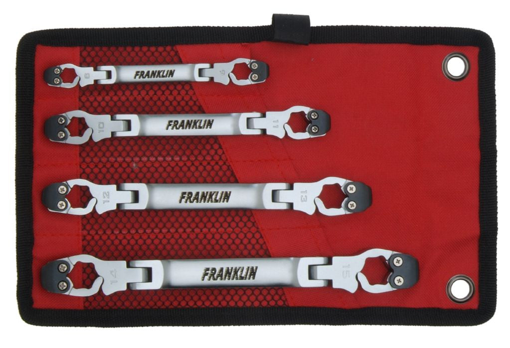 Franklin Tools 4 pce Flare Nut Ratchet Wrench Set   AT754