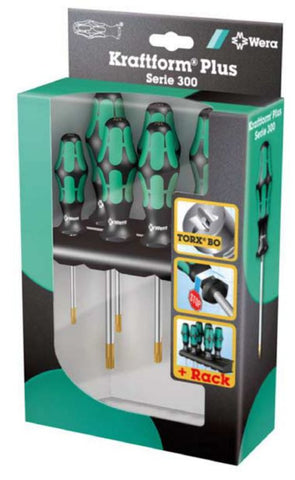 Franklin Tools Wera 6pce Tamper Torx Screwdriver Set AW3825