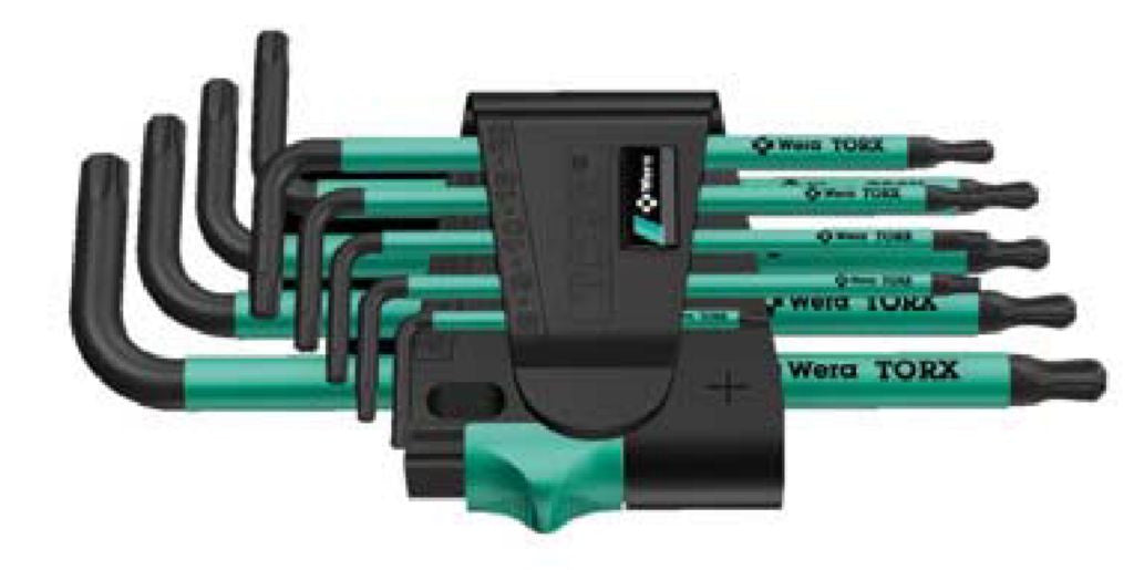 Franklin Tools Wera 9pce Tamper Torx Wrench Set AW4334