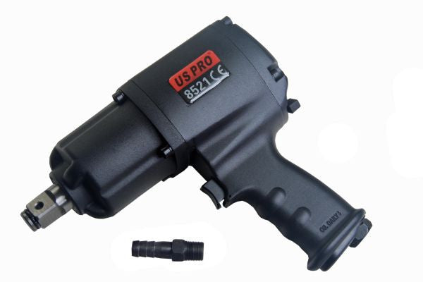 "US PRO 3/4""dr Industrial air impact wrench 880 ft/lb Gun B8521"