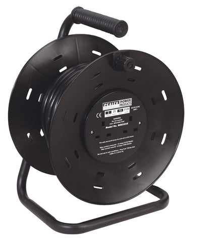 Sealey Cable Reel 25mtr 2 x 230V Heavy-Duty BCR2525