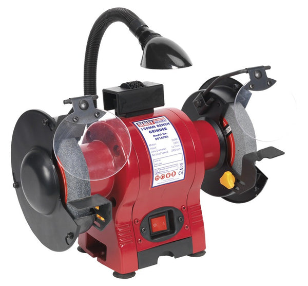 Sealey Bench Grinder 150mm with Work Light 250W/230V BG150WL