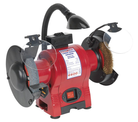 Sealey Bench Grinder 150mm & Wire Wheel Combination with Work Light 250W/230V BG150XWL