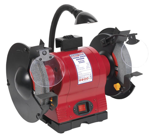 Sealey Bench Grinder 200mm with Work Light 550W/230V BG200WL