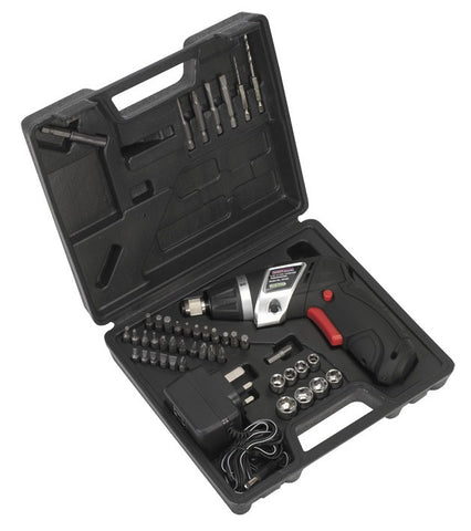 Sealey Cordless Lithium-ion Screwdriver Set 46pc 3.6V CP36S