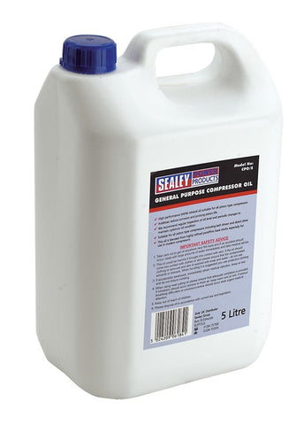 Sealey Compressor Oil 5ltr CPO/5