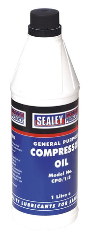 Sealey Compressor Oil 1ltr CPO1S
