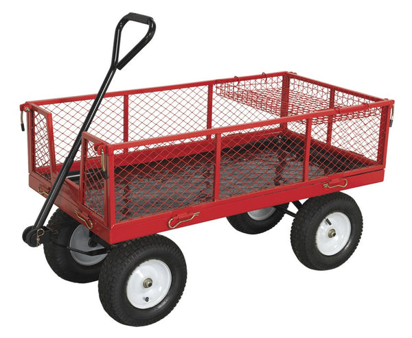 Sealey Platform Truck with Sides Pneumatic Tyres 450kg Capacity CST806