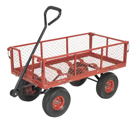 Sealey Platform Truck with Removable Sides Pneumatic Tyres 200kg Capacity CST997