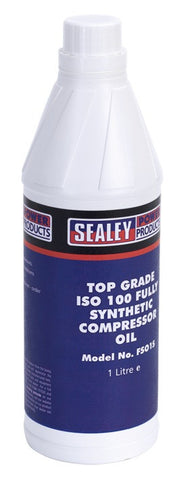 Sealey Compressor Oil Fully Synthetic 1ltr FSO1S