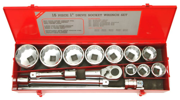"Franklin Tools 15pc Socket Set 1"" dr 36-80mm FT1015"
