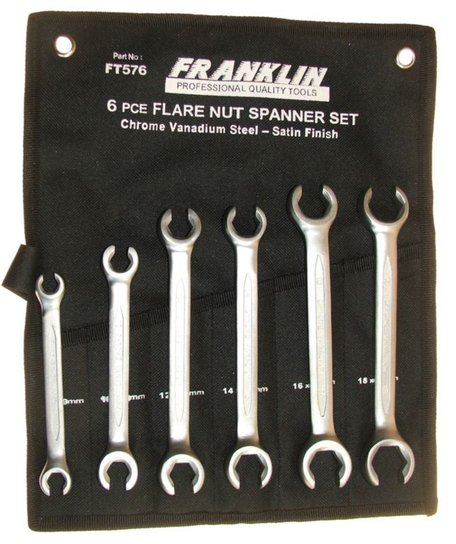 Franklin Tools 6pc Flare Nut Wrench Set 8-19mm FT576