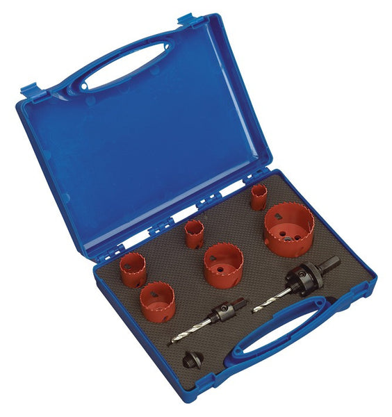 Sealey Hole-Saw Kit Plumber's 9pc HKP9