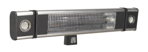 Sealey High Efficiency Carbon Fibre Infrared Wall Heater 1800W/230V with LED Lights IWMH1809LR