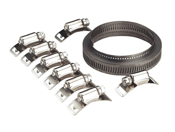 Sealey Hose Clamp Set Self-Build 12.7mm Band Width JC972