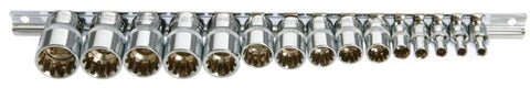 Franklin Tools 15pce MultiDrive Sockets 4-19mm MD999