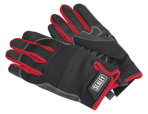 Sealey Mechanic's Gloves Light Palm Tactouch - Large MG798L