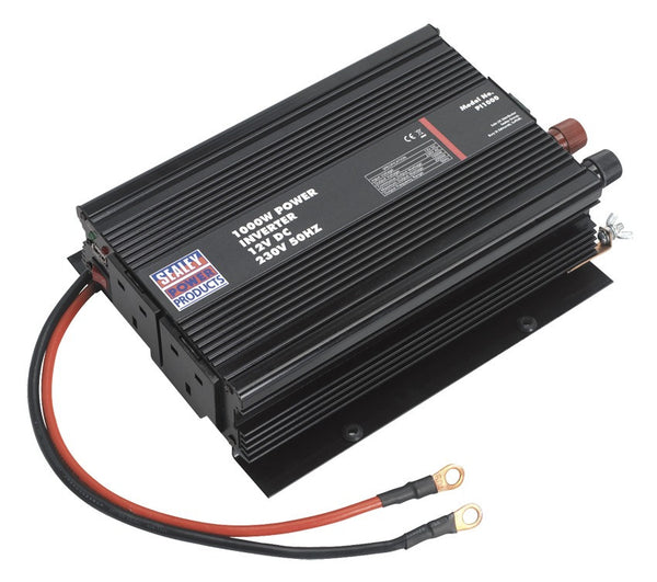 Sealey 1000W Power Inverter 12V DC - 230V 50Hz PI1000