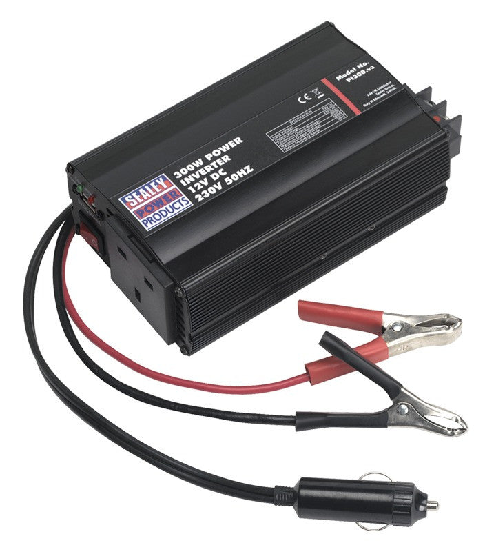 Sealey 300W Power Inverter 12V DC - 230V 50Hz PI300