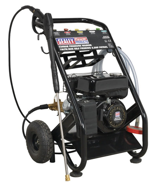 Sealey 220bar Pressure Washer 10ltr/min Self Priming 6.5hp Petrol PWM2500SP