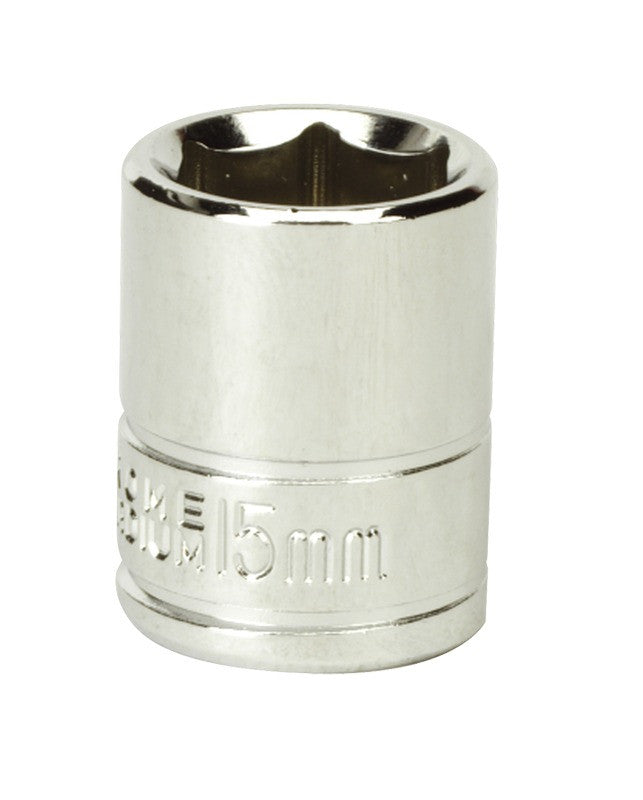 "Siegen by Sealey WallDrive® Socket 15mm 3/8""Sq Drive S0582"