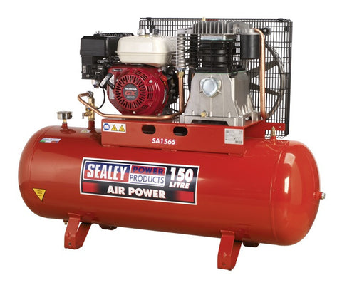 Sealey Compressor 150ltr Belt Drive Petrol Engine 6.5hp SA1565
