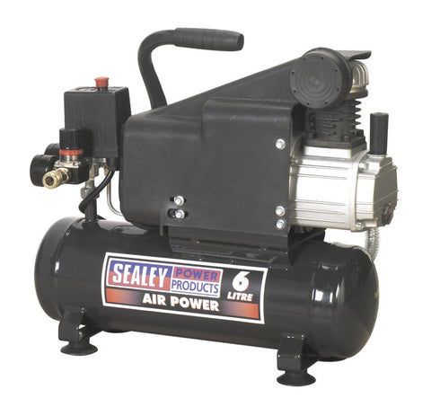 Sealey Compressor 6ltr Direct Drive 1hp SAC0610E