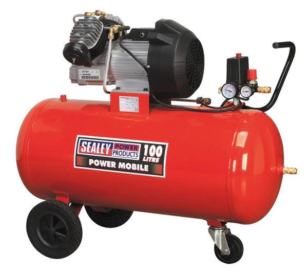 Sealey Compressor 100ltr V-Twin Direct Drive 3hp SAC10030
