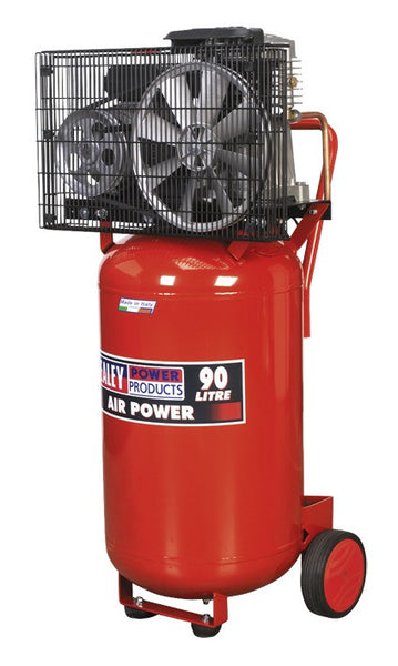 Sealey Compressor 90ltr Vertical Belt Drive 3hp SAC1903B