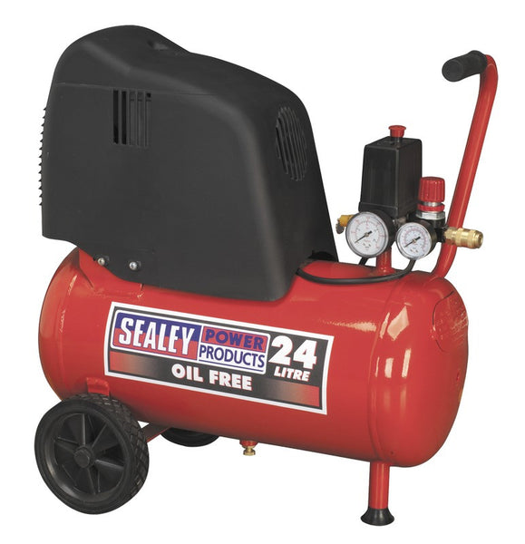 Sealey Compressor 25ltr Belt Drive 1.5hp Oil Free SAC02415