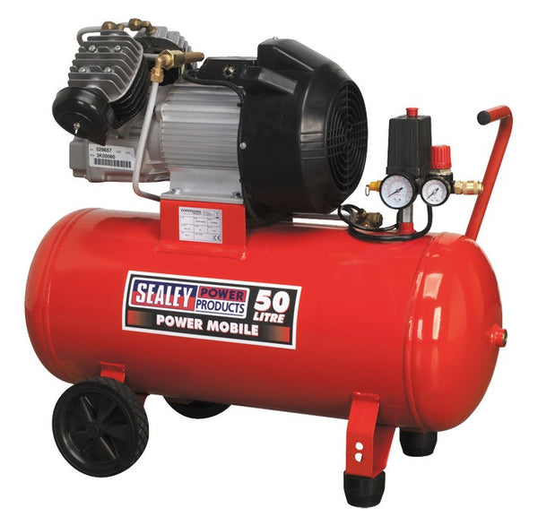 Sealey Compressor 50ltr V-Twin Direct Drive 3hp SAC05030