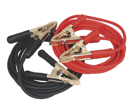Sealey Booster Cables Extra Heavy-Duty Clamps 25mm² x 5mtr Copper 650Amp SBC/25/5/EHD