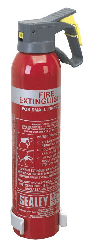 Sealey 0.95kg Dry Powder Fire Extinguisher - Disposable SDPE009D