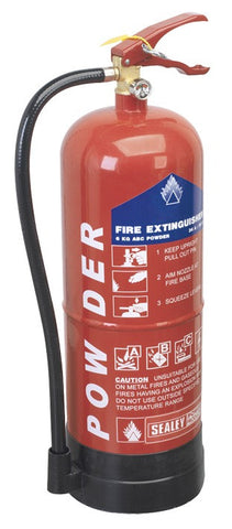 Sealey 6kg Dry Powder Fire Extinguisher SDPE06