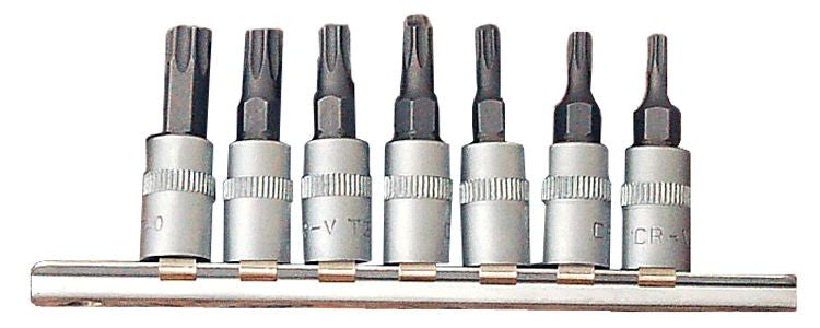 "Franklin Tools 7pc Star Bit Skt Set 1/4""dr TA569"