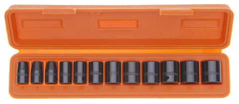 "Franklin Tools 12pc Impact Skt 8-19mm 3/8"" TA805"