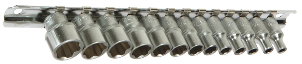 "Franklin Tools 13pce XL Sockets 4-14mm 1/4""dr XL1413"