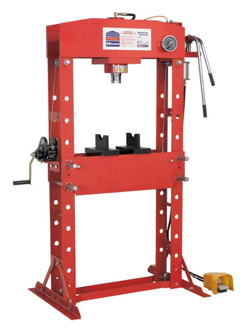 Sealey Air/Hydraulic Press 50tonne Floor Type with Foot Pedal YK509FAH