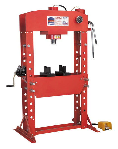 Sealey Air/Hydraulic Press 75tonne Floor Type with Foot Pedal YK759FAH