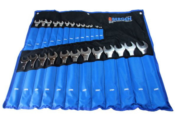 Bergen 25pc Metric Combination Spanner Wrench Set 6-32mm B1911