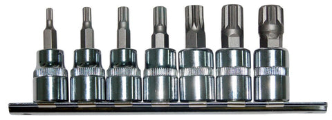 Franklin - 7pc Spline Bit Sockets on Rail 50mm TA5621