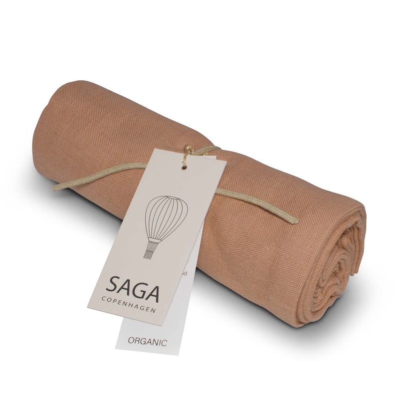 Saga Copenhagen Muslin Cloth in Dusty Coral
