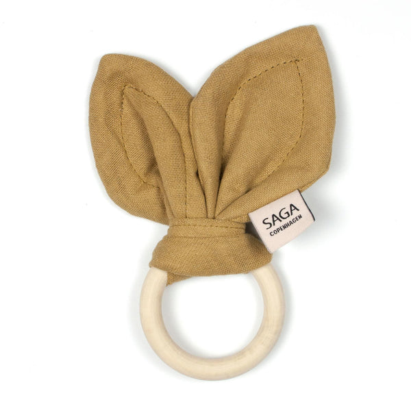 Saga Copenhagen Teething Ring - Mustard