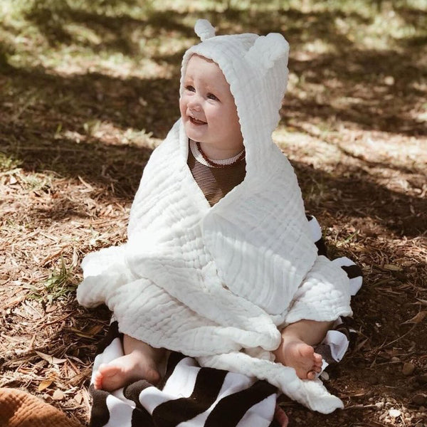 Organic Cotton Hooded Towel with Ears