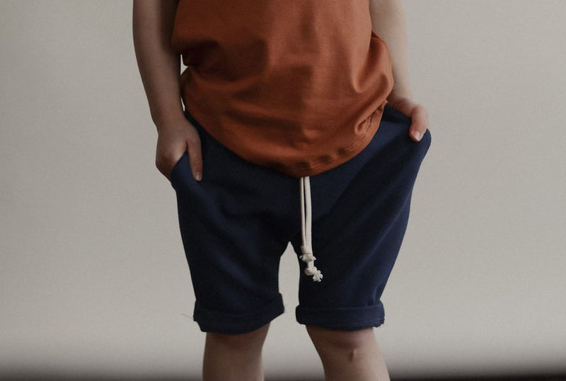Boy wearing shorts by sem label
